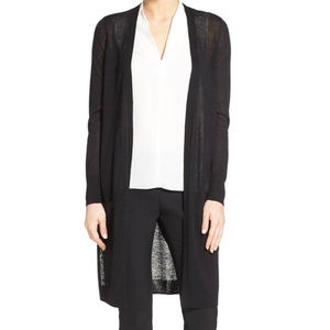 Halogen Long Open front Cardigan Sweater